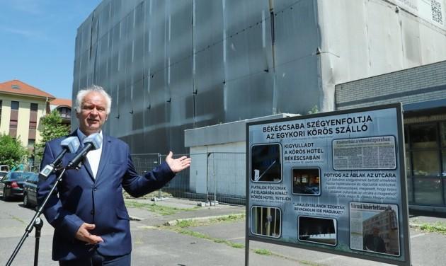 Az állam megveszi és lebontja az üresen álló békéscsabai Körös Hotelt