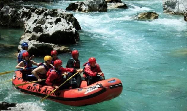 Turizmus rafting Szlovéniában