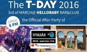 T-Day, az Utazás 2016 hivatalos afterpartyja