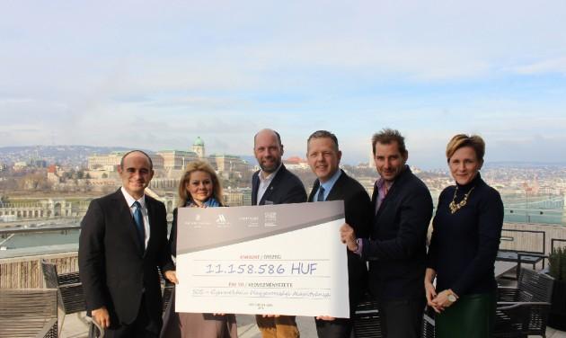 Négy magyarországi szálloda, 11 milliós adomány