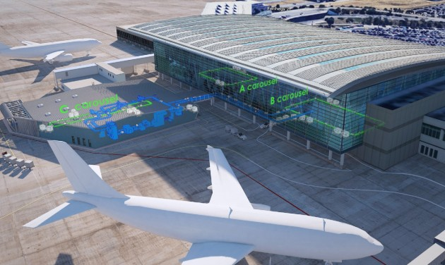 Elkészült az új poggyászosztályozó csarnok a repülőtéren