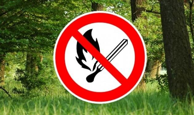 Tilos az erdőkben tűzet gyújtani