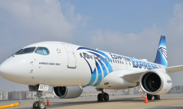 Vadonatúj Airbus A220-300-as az EgyptAir flottájában