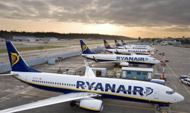 9 millió utas a Ryanairnél decemberben