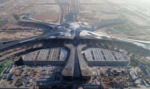 Próbaüzem az új pekingi óriásrepülőtéren