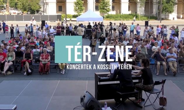 Csütörtöktől ingyenes Tér-Zene a Kossuth téren