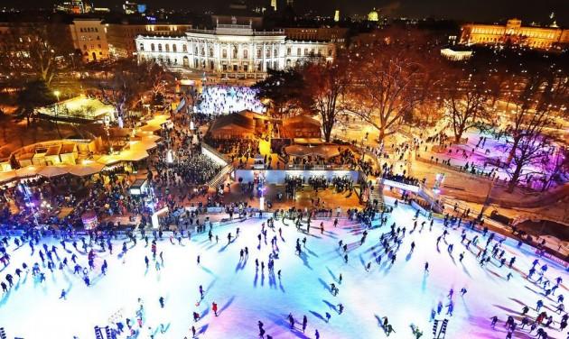 Kétszintes korcsolyapálya Bécsben