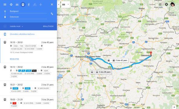 Mar A Google Terkep Is Ismeri A A Vasuti Menetrendet Turizmus Com